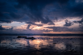 OLYMPUS DIGITAL CAMERA - This image of a sundown was captured at the beach offenbach Sankt Peter Ording at the North Sea Coast of Germany.