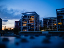 OLYMPUS DIGITAL CAMERA Captured during the blue hour in the harbour of Offenbach am Main.